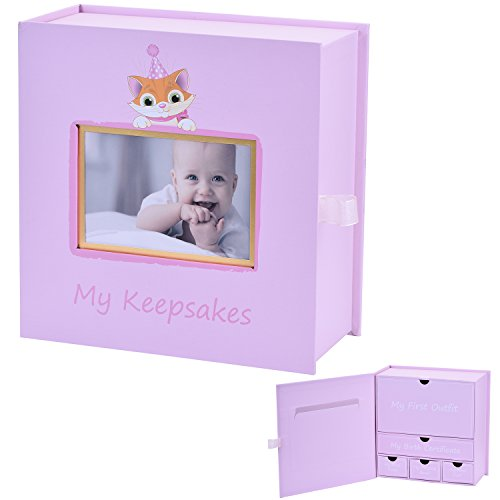 BBX Baby keepsake box, Baby Keepsake Journal Gift Box for Newborn Baby Record Your Girls or Boys First Mementoes from BBX