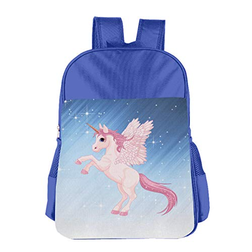 Teenagers Long Tail Unicorn Leisure School Bag, Durable Leisure School Bag For 4-15 Years Girl -