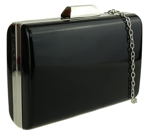 Hard Girly Girly Clutch Case Glossy HandBags Black HandBags Bag IFpqwwZ