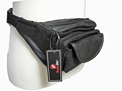 Echtleder Gürteltasche Extra Sehr groß 129.5cm Taille Multi 7 Tasche Gürteltasche SCHWERLAST RL287