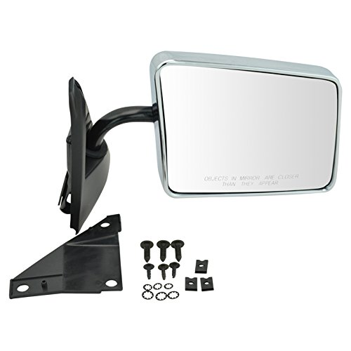 Stainless Steel Chrome Manual Side View Mirror Passenger Right for Blazer Jimmy