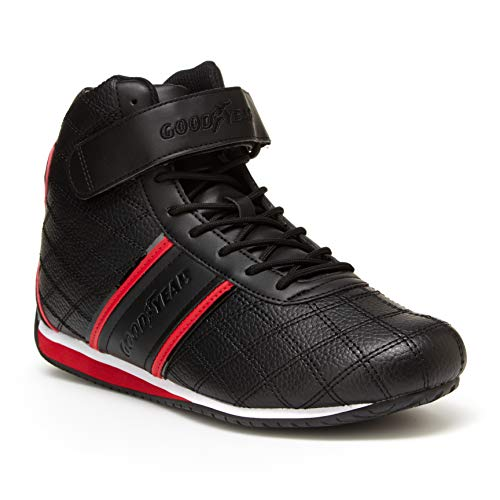 (Goodyear Mens Clutch Racer Sneaker - High-Top Sneakers, PU Leather & Mesh Lining)