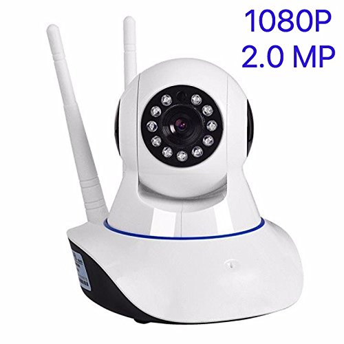 SANOXY Wireless 1080P IP Camera, WiFi Home Security Surveillance Camera for Baby/Elder/Pet/Nanny Monitor, Pan/Tilt, Two-Way Audio & Night Vision ()