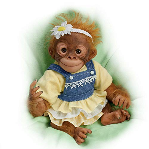 Darling Daisy Lifelike 10 Inch Monkey Doll by Amy Ferreira by The Ashton-Drake Galleries (Monkey Baby Doll)