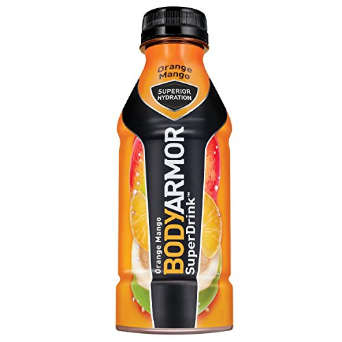BODYARMOR Sports Drink Sports Beverage, Orange Mango, 16 Fl Oz (Pack of 12), Natural Flavors With Vitamins, Potassium-Packed Electrolytes, No Preservatives, Perfect For Athletes