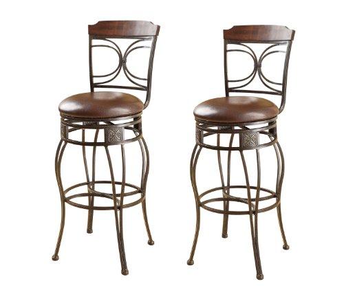 ACME 96047 Set of 2 Tavio Swivel Bar Chair, 29-Inch