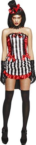 Smiffy's Women's Fever Madame Vamp Costume, Black/White/Red, -