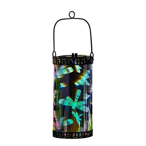 Outdoor Garden Stargazing Solar Hanging Lantern Light, Dragonfly ()