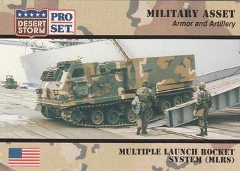 multiple-launch-rocket-system-mlrs-trading-card-desert-storm-1991-pro-set-204-armor-and-artillery