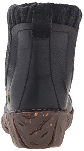 El Naturalista Ne23 Soft Grain Yggdrasil, Botas Chelsea para Mujer Negro (Black)