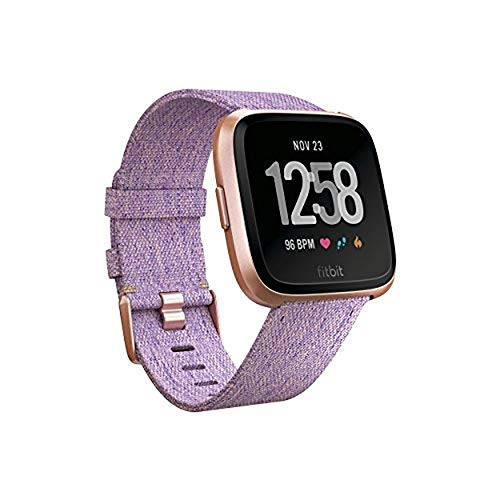 Fitbit Versa Special Edition Smart Watch, Lavender Woven, One Size (S & L Bands ()