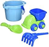 Small World Toys Sand & Water - 5-Piece Beach Set (Green & Blue)