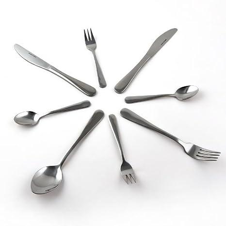Cubertería 60 piezas menú completo – De acero inoxidable, para 12 comensales