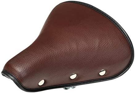 Bike Saddle Comfy Wide Saddle Bicycle Seat Sponge Padded Spring Cushion Retro S2