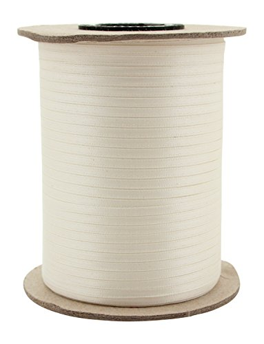 "Berwick Offray 1/8"" Wide Double Face Satin Ribbon, Antique White Ivory, 500 Yds"