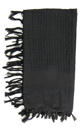 Premium Shemagh Head Neck Scarf – Black/Black