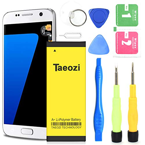 Galaxy S7 Battery, 【Upgraded】 Taeozi 3300mAh [ EB-BG930ABE ] Li-Polymer Replacement Battery for Samsung Galaxy S7 SM-G930 G930V G930P G930T G930A with Free Repair Kit Tools [ 18 Month Warranty ] ()