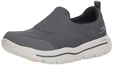 Skechers Men's GO Walk Evolution Ultra 54730 Sneaker, Charcoal/Black, 7 M US