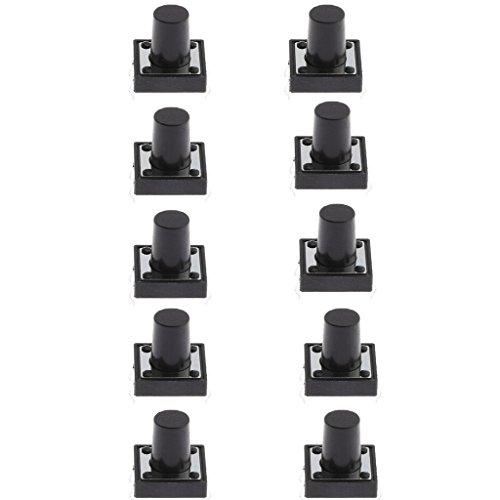約12x12x11mm PCBマウント モーメンタリ プッシュボタン 触覚タクトスイッチ 高精度機構設計 全3パタン