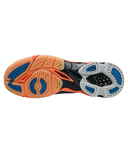 Lightning Weiß Orange Homme Multisport Indoor Chaussures Mizuno Z Blau Wave z5qwRRZ