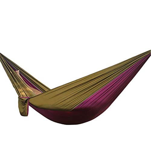(Yoilsntsg Hiking Camping 270140Cm Hammock Portable Nylon Safety Parachute Hamac Hanging Chair Swing Outdoor Double Person Leisure Hamak Same as picture21)