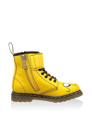 Dr. Martens Unisex-Kinder A. Time Lace Boot Yellow Softy, Gelb Gelb
