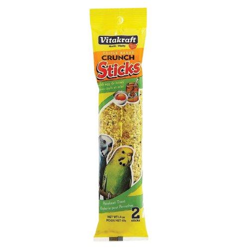 Vitakraft Triple Baked Crunch Sticks w/Egg and Honey 1.4 oz. (Pack of 2)