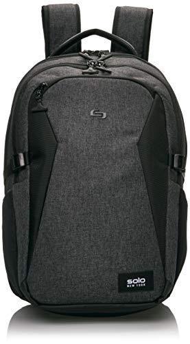 Solo Nomad Unbound Slim Backpack - Fits Up To 15.6-Inch Laptop - Lightweight TSA Checkpoint-Friendly Commuter Laptop Backpack for Women and Men - Grey