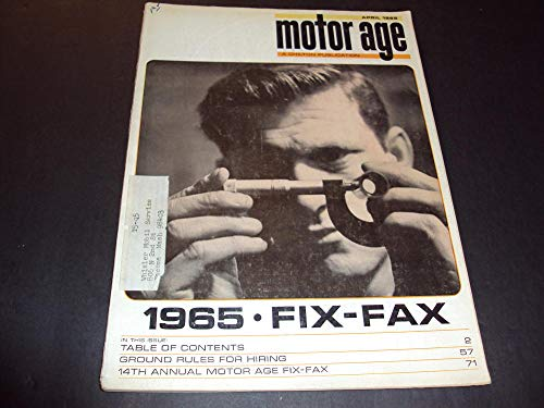 Motor Age Apr 1965 Annual Motor Age Fix-Fax, Electrical Systems ()