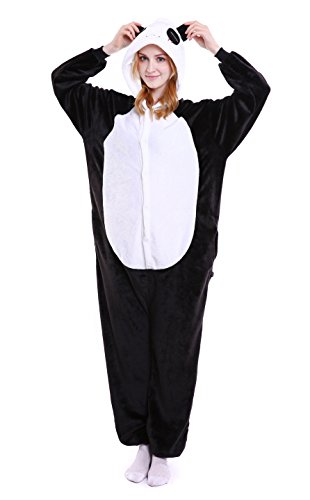 LeaLac Unisex Onesie Animal Cosplay Stage Performance Costume Adult Pajamas Panda S ()