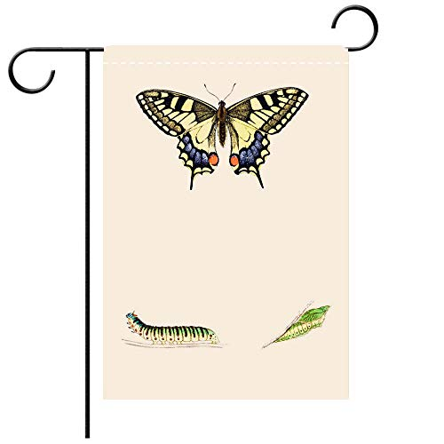 BEICICI Artistically Designed Yard Flags, Double Sided Swallowtail Hand Coloured Engraving Best for Party Yard and Home Outdoor ()