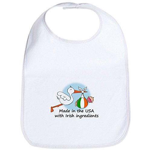 CafePress - Stork Baby Ireland USA Bib - Cute Cloth Baby Bib, Toddler ()
