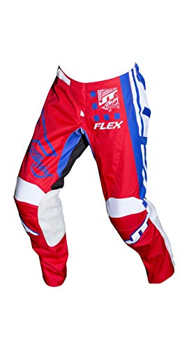 JT Racing USA FLEX EXBOX PANT (38, RD/BL/Wh) from JT Racing USA
