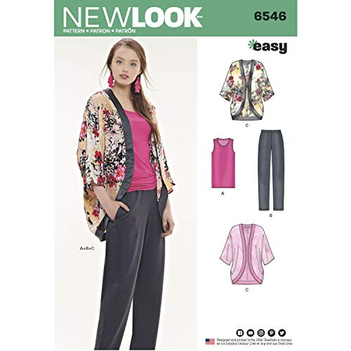 (NEW LOOK Sewing Pattern 6546 - Misses' Separates A (6-24 / XS -XL))
