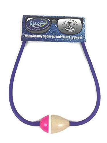 Neon Neckz Floating Fishing Boating Eye wear Sunglasses Straps with Floater (purple neon pink) by Neckz