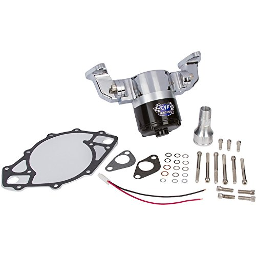 Electric Water Pump for Ford Big Block - 35 GPM, Chrome Aluminum, 429-460