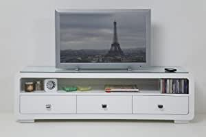 White Club televisor con 3 cajones mueble para televisor TV Rack by Kare Design