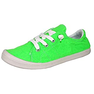 Forever Link Women's Classic Slip-On Comfort Fashion Sneaker (8, Neon)
