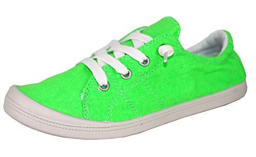 Forever Link Women's Classic Slip-On Comfort Fashion Sneaker (10, Neon)