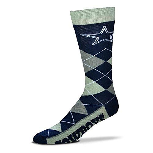 Dallas Cowboys Argyle Unisex Crew Cut Socks - One Size Fits Most ()