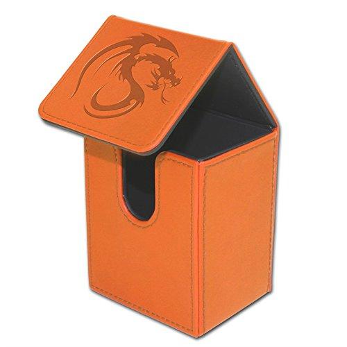 BCW Orange Deck Case LX Gaming Card Leatherette Magic The Ga