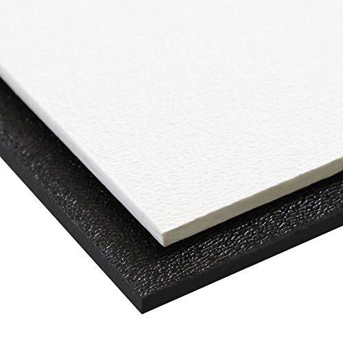 Source One Premium 1/8 Inches Black or White Textured ABS Acrylic Plexi Sheet (12 x 12, White)