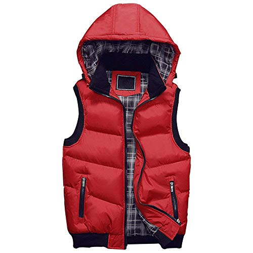 Vest Coat Warm Jacket Men Coat Clothing Winter Hooded Rot Sleeveless Down Quilted HX fashion Vest Comfortable Sizes Men's Men qw7PxtgS