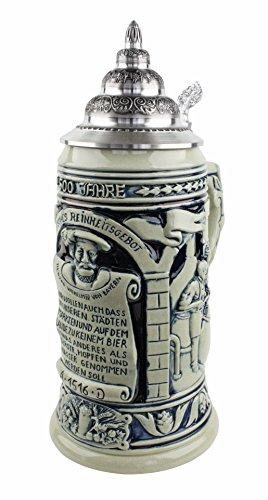 german-beer-purity-law-beer-stein-500-year-anniversary-german-beer-purity-law-beer-stein-cobalt