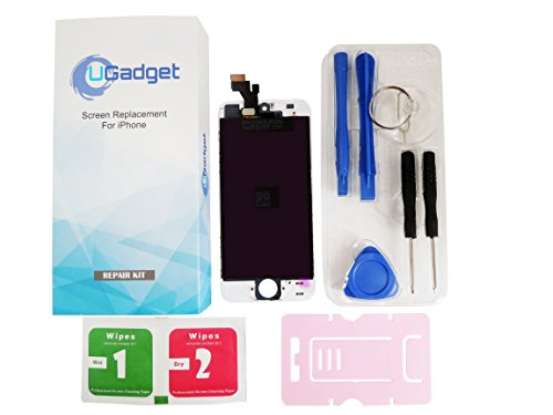 UGadget(for iPhone 5) new white LCD Touch Screen Digitizer Assembly replacement with tool kit for iPhone 5 (4