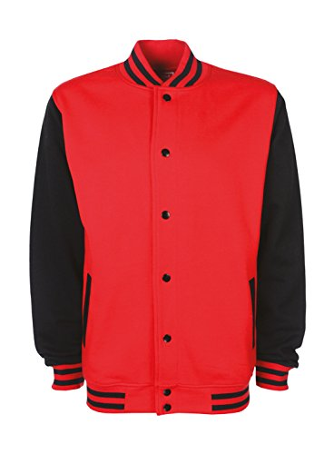 Ann black Blouson Fire Teddy Homme Susan Red wYarAwq