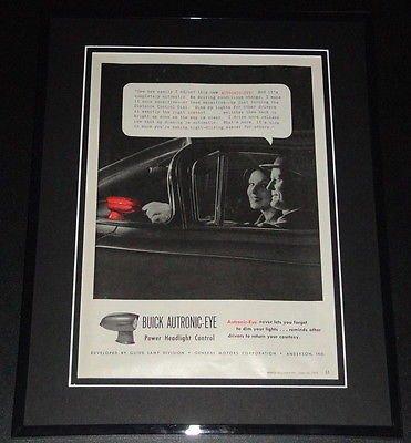 Buick Headlamp (1959 Buick Autronic Eye Headlights 11x14 Framed ORIGINAL Vintage Advertisement)