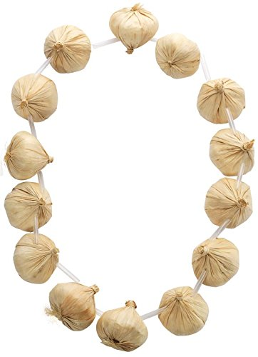 Smiffy's Adult Unisex Fake Garlic Garland, Necklace, Cream, One Size, 20189