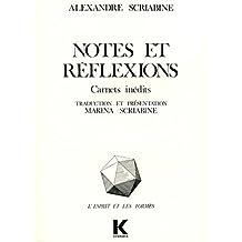 Notes et réflexions