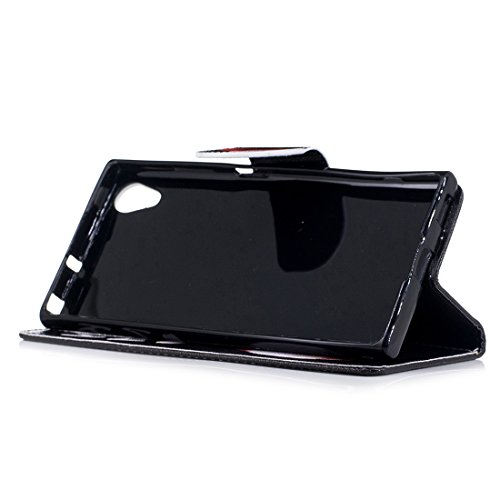de pour PU en Corky XA1 Xperia conception avec étui carte Plus d'impression cas cuir aérosol protection Flip Sony portefeuille peint support fente magnétique avec Hozor en fermeture 7wgvxqHFC